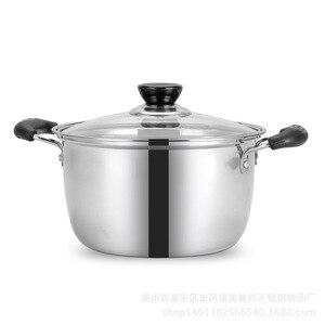 Image 3 - 1pcs  Double Bottom Pot Soup Pot Nonmagnetic Cooking Pot Multi purpose Cookware Non stick Pan