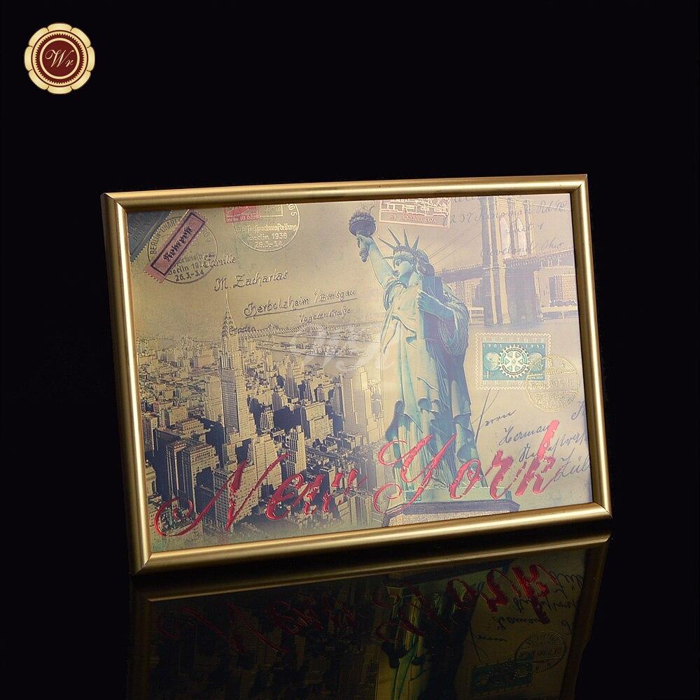 ᗚAmérica edificio Estatua de la libertad colorido pintura hoja de ...
