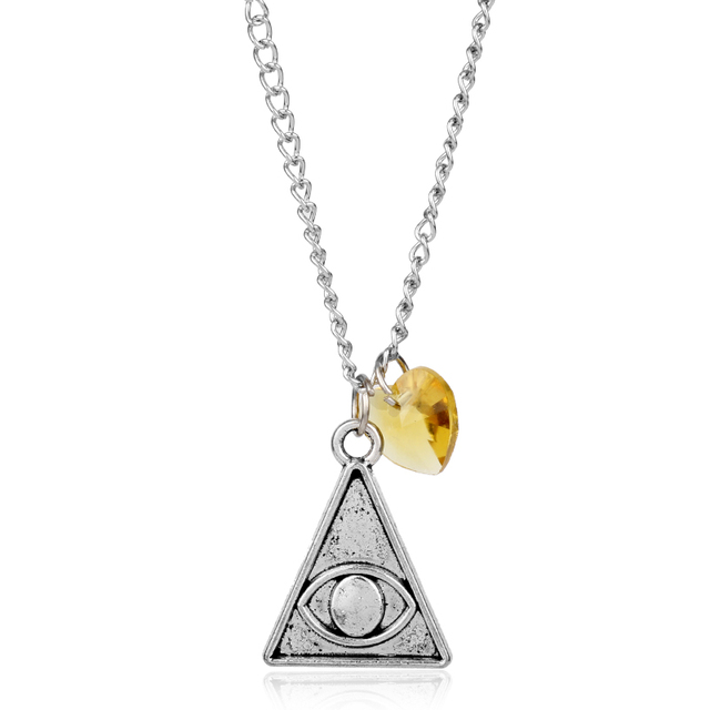 Mqchun 2018 vintage silver pyramid triangle eye pendant all seeing mqchun 2018 vintage silver pyramid triangle eye pendant all seeing eye crystal necklace the eye of mozeypictures Images