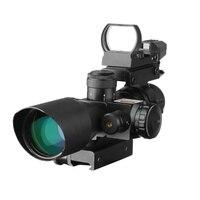 Caccia Ottica 2.5-10X40E/R + Luce Linee Trasversali Sniper Sight Caccia Optical Sightfinder HD101 + Aereo HD101 quattro Dot Mirino