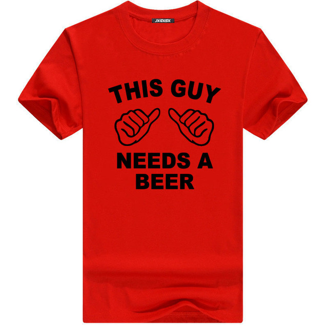 Funny T shirt THIS GUY NEEDS A BEER20