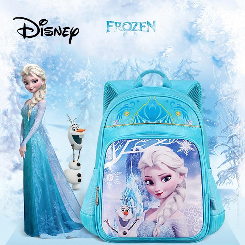 Дисней Замороженный Детский рюкзак девочка детский сад Милый Мультфильм Эльза Анна большой емкости розовый рюкзак девушки подарок на день