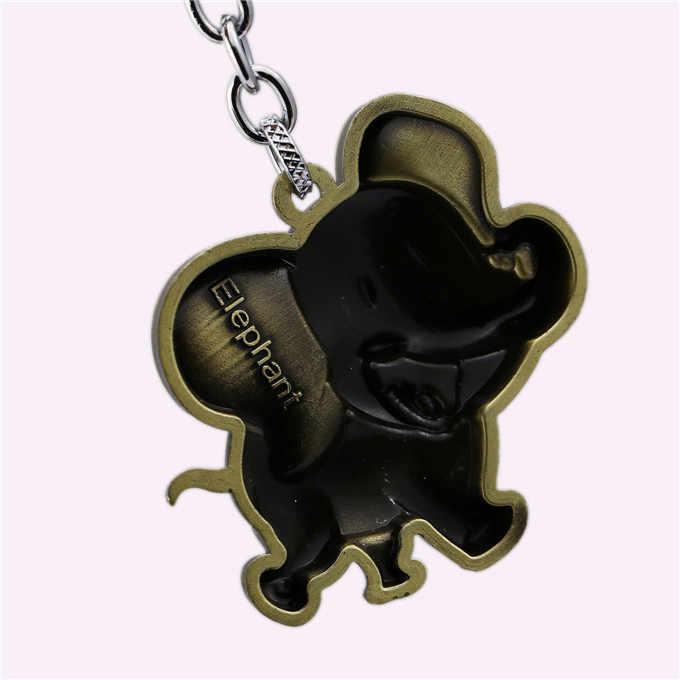 J loja Brozen Elefante Dos Desenhos Animados Keychain Bolsa Charme Chave Anel Titular Chaveiro Chave Animal Cadeia Pingente Crianças Presentes Acessórios