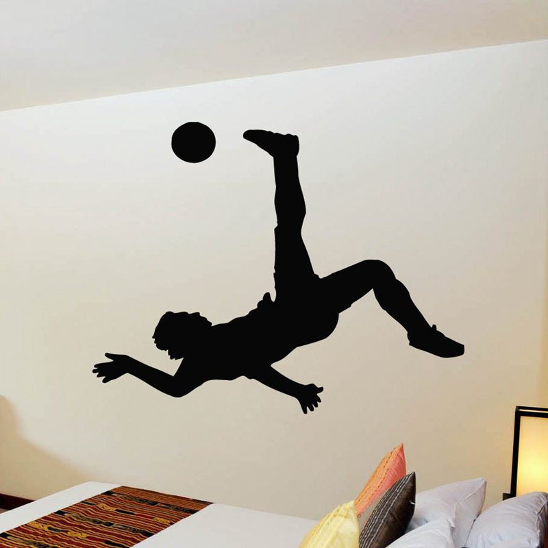 DCTAL Football Player Sticker Sports Soccer Decal Helmets Girl Kids Room Name Posters Vinyl Wall Decals Football Sticker