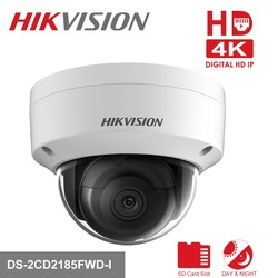 Hikvision DS-2CD2185FWD-I 8MP Network mini dome security CCTV Camera POE SD card 30m IR H.265+ IP camera