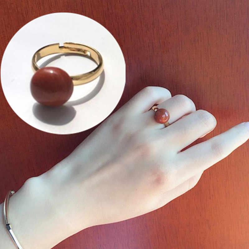 لطيف افتتاح قابل للتعديل حلقة للنساء خمر قصر الأحمر الحجر الدائري رومانسية الزفاف الحب الهدايا والمجوهرات بالجملة
