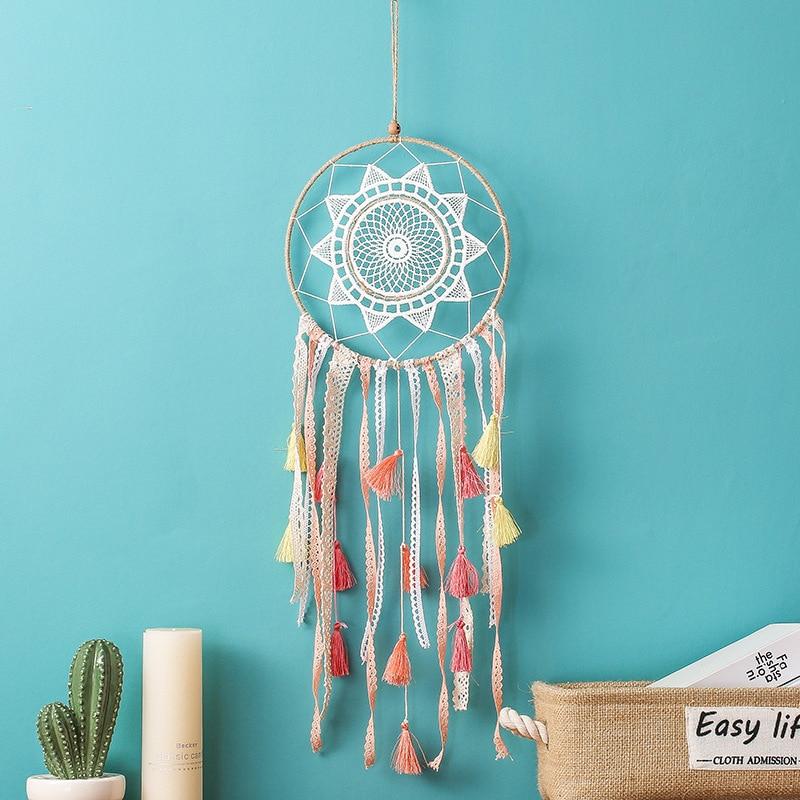 MEMOSTO Dream Cather INS creative gradient tassel dream catcher multi-color Bohemian home pendant