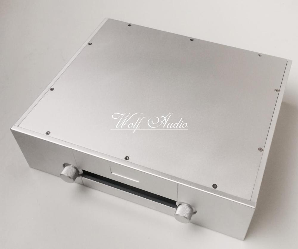 GW4312 Silver Full Aluminum Chassis Goldmund Preamplifier Case DIY Power Amplifier Box 430x120x360MM  Shell Shell & Body Parts Consumer Electronics - title=