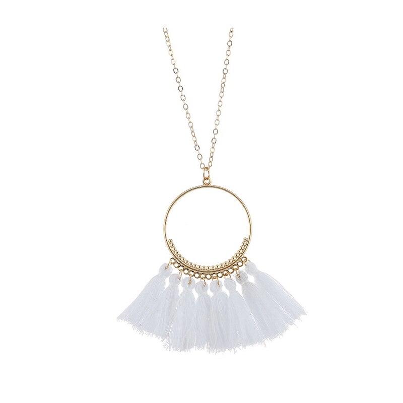 cjh012 Christmas Hoops Tassle Tassel Necklace Drop Fringe Necklace