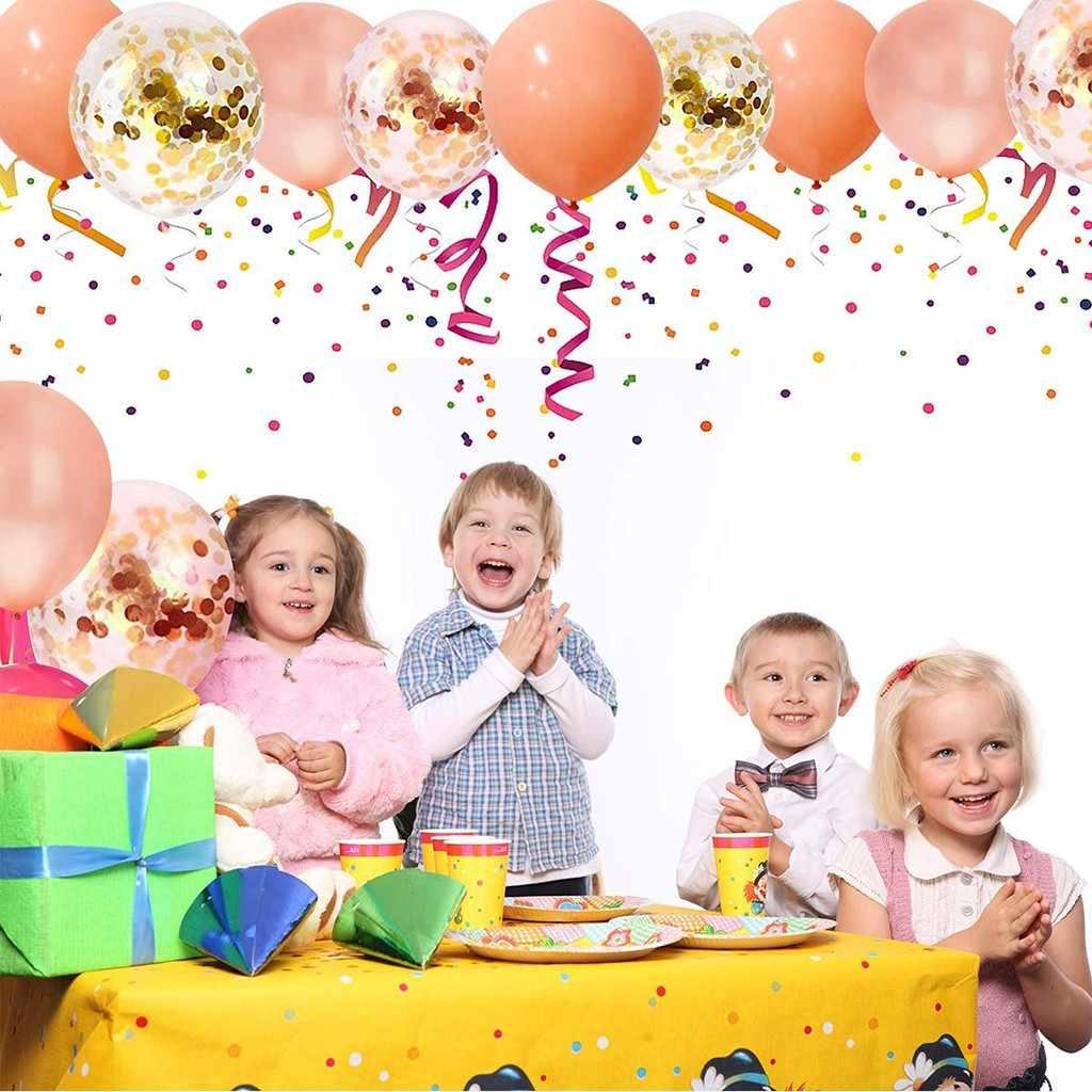 50 шт. розовое золото конфетти воздушные шары 12 дюймов для дня рождения свадьбы Вечерние украшение домашнего декора аксессуары