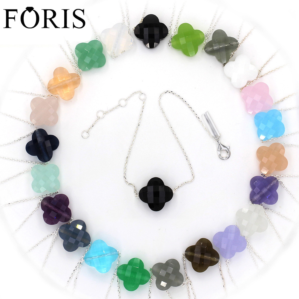 Best Brand Jewelry Crystal 925 Sterling Silver Bracelets For Women Gift 11 Colors