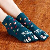 New Women's Socks short Christmas Gift Sock Fashion Winter ladies cute Socks Female Thermal Warm Toe Finger Socks Promotion Hot