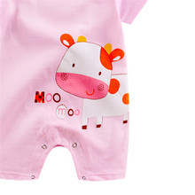Rompers for Infants and Babies with Cartoony Animal Prints