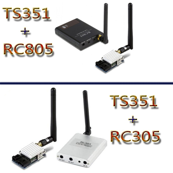F-Cloud FPV 5.8G 200mW Wireless Video and Audio Transmission Transmitting and Receiving Set TS351+RC305 RC805 boscam 5 8ghz 200mw 8 channel image transmission fpv audio video transmitter receiver ts351 rc305 for fpv transmission