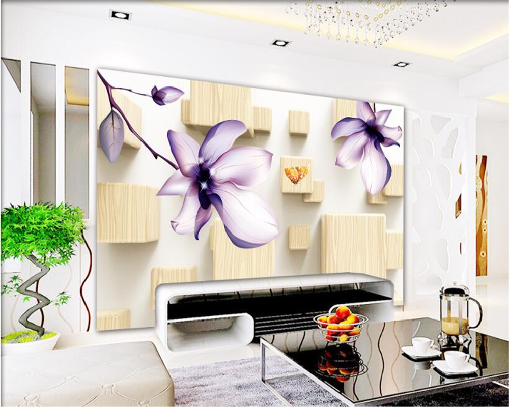 Wall Mural For Living Room Online Buy Wholesale Floral Wall Murals From China Floral Wall