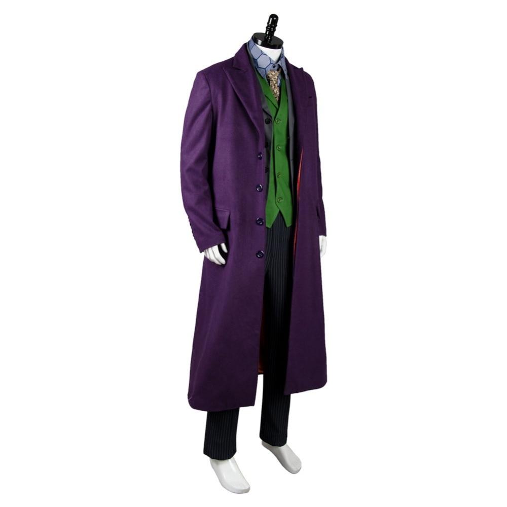 Batman Dark Knight Joker Set 6 pcs Gabardine Trench Coat Costume Cosplay Show