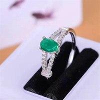 Fine Jewelry Идеальный 18 К золото идеальная высшего сорта Зеленый Изумрудный ringfor 4*6 мм обручальное кольцо