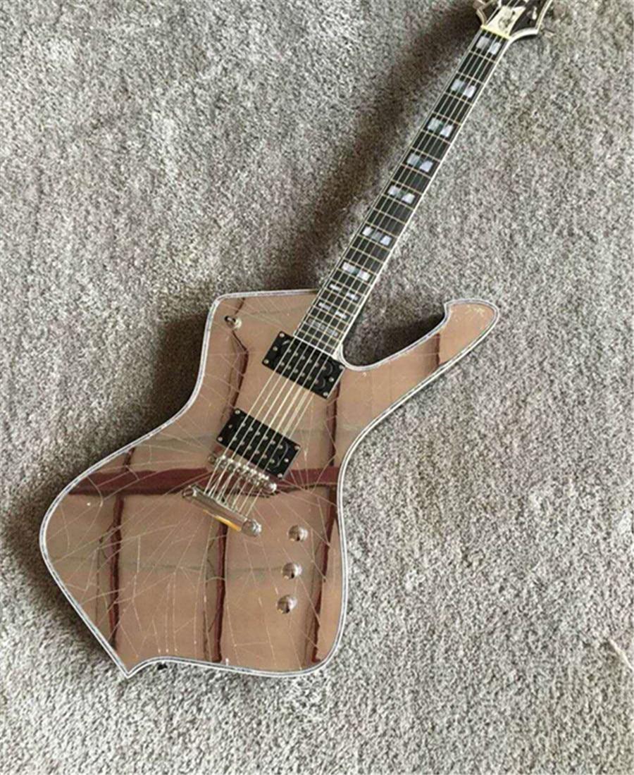 Custom New Arrival Mirror cracks paul stanley Electric Guitar 6 strings China top quality Alien Guitarra