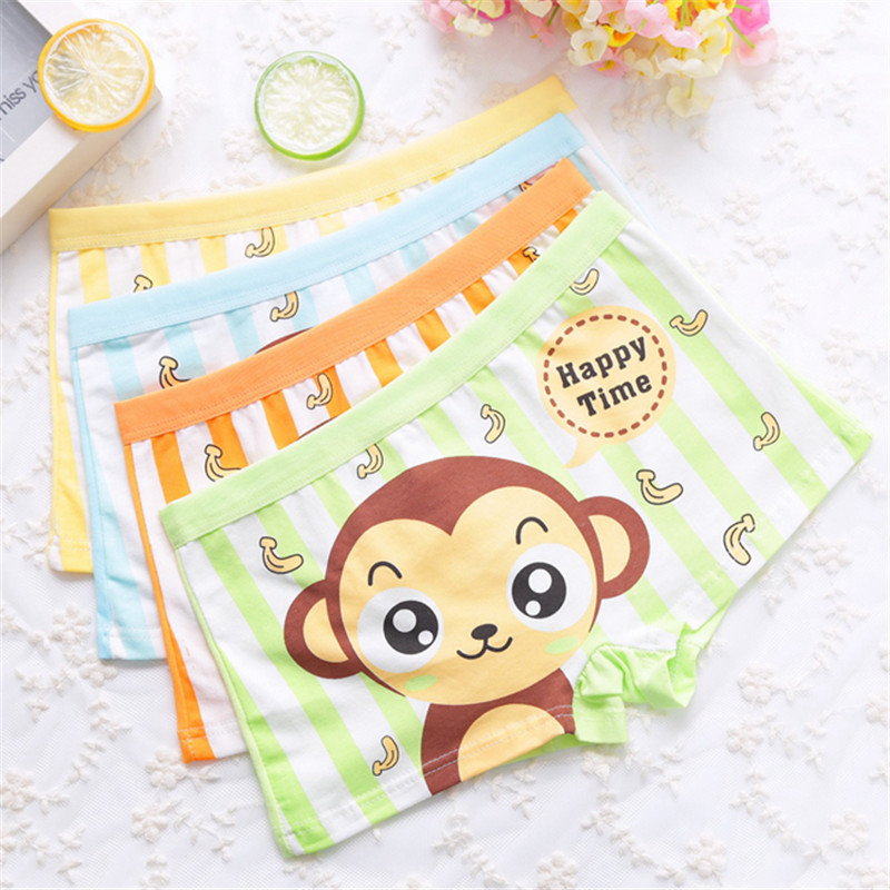Boy Underwear Boy Boxer Child's For Underpants Shorts  Pants For Boys Children's Boxer Kids Panties  A3055-2p 2pcs/lot