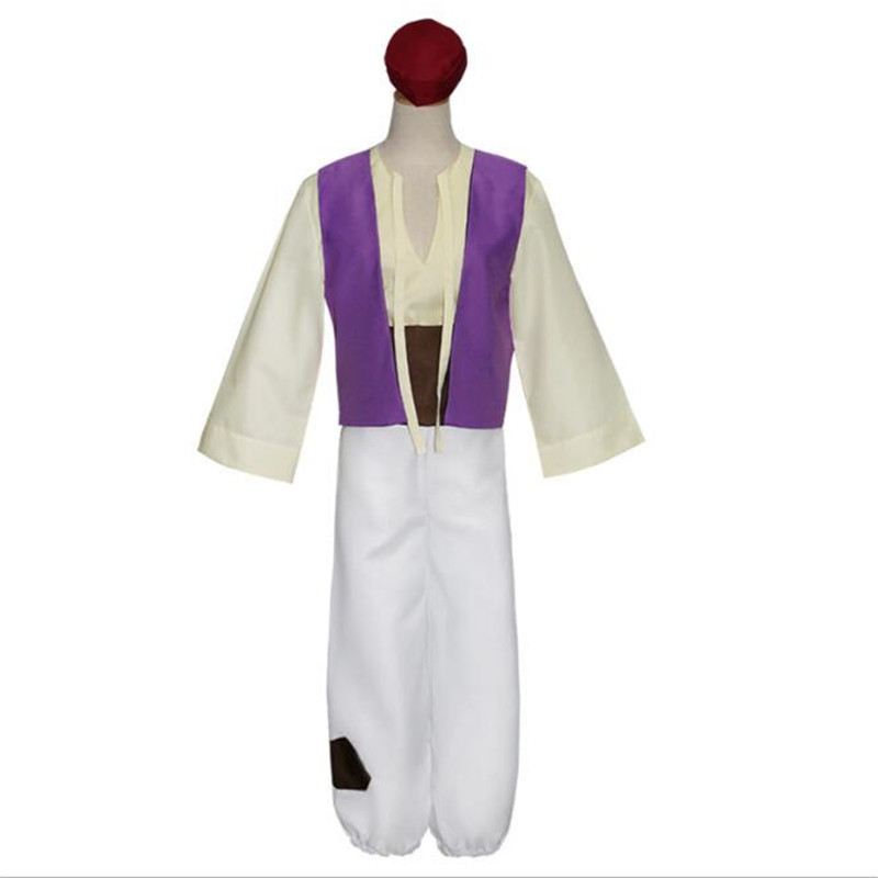 Tales From The Thousand And One Nights Aladdin and the magic lamp Cosplay Costume Adult Boys Masquerade Uniform Stage Suit