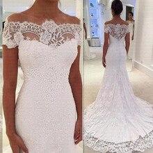 Vestido De Noiva Роскошные кружевные свадебные платья русалки Прозрачные Свадебные платья большого размера с открытыми плечами Robe de mariee