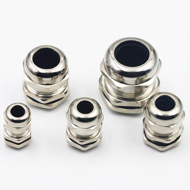 Nickel Plated Brass Waterproof Cable Gland Connector Fastener PG7 PG9 PG11 PG13.5 PG16 PG19 PG21 PG25 PG29 PG36 image