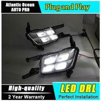 car styling For Kia K5 LED DRL For Optima led fog lamps daytime running light High brightness guide LED DRL13 14 Four eye style