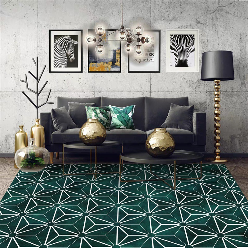 Image 2 - Nordic INS fashion simple geometric mats home bedroom bedside entrance elevator floor mat sofa coffee table anti slip carpet-in Carpet from Home & Garden