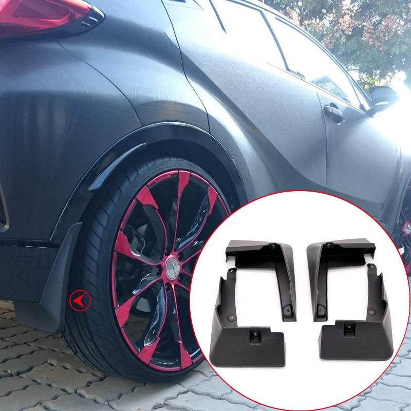 For Toyota C-HR CHR 2016 2017 2018 Car Mudflaps Molded Splash Guards Mud Flaps Mud Guard 4PCS Car Styling Auto Accessories цена