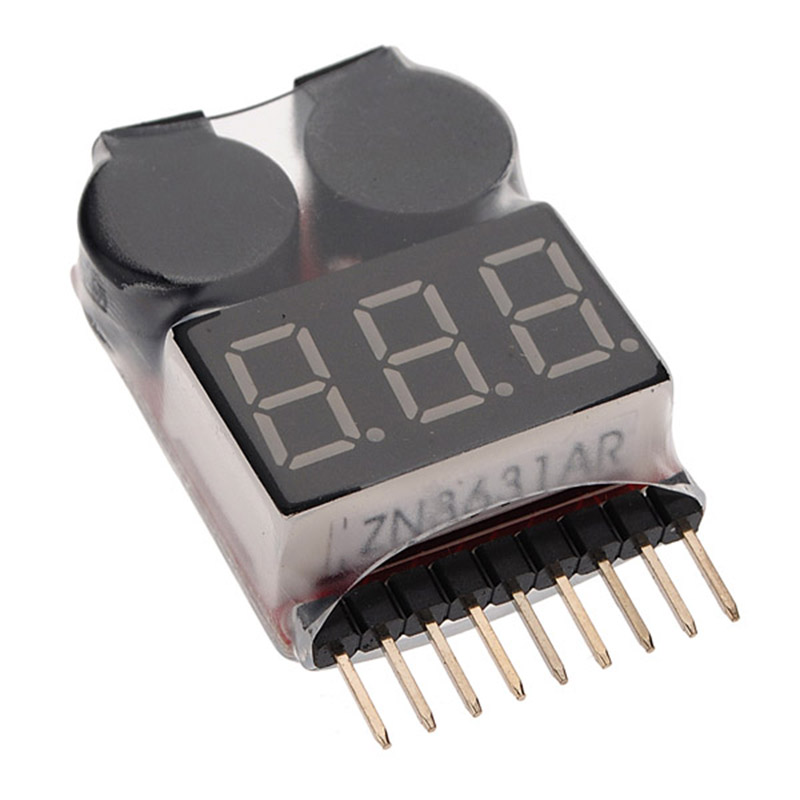 Tester Low Voltage Buzzer Alarm 1-8S Lipo Li-on For RC Helicopter Plane Boat Battery Digital Voltage Meter Monitor Accessory vm006 1 6s lipo battery accurate battery voltage meter lcd liquid crystal display alarm