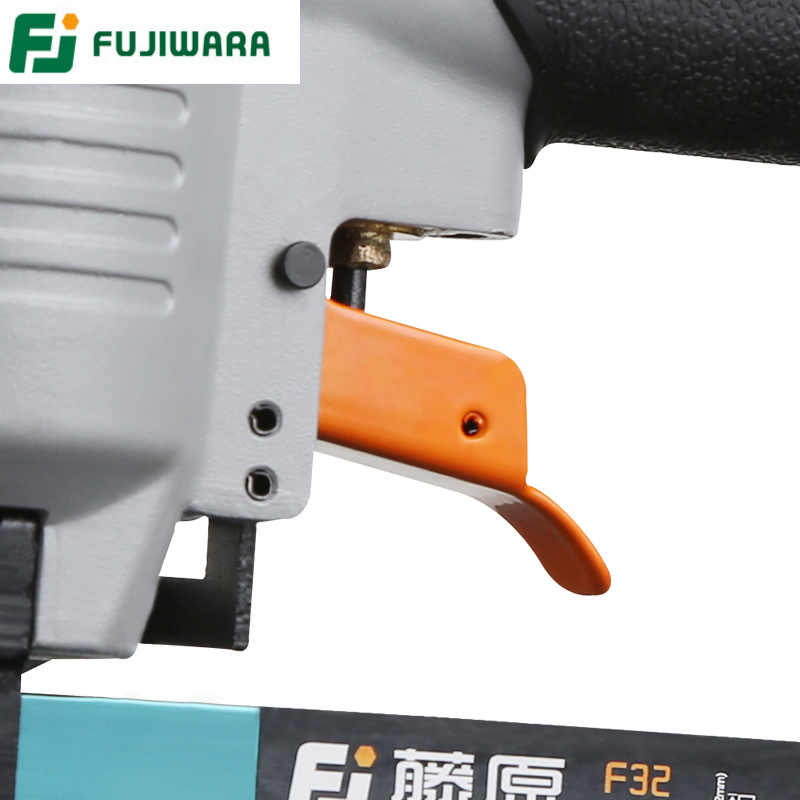 Tools : FUJIWARA 2-in-1 Carpenter Pneumatic Nail Gun Woodworking Air Stapler Home DIY Carpentry Decoration F10-F30 422J Nails