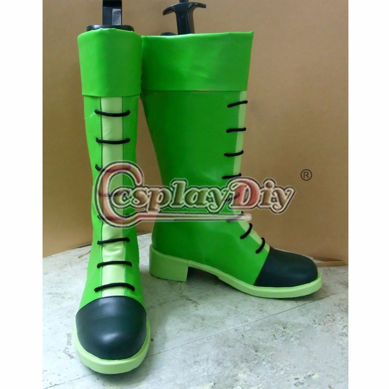 Anime Hunter x Hunter Gon Freecss Cosplay Shoes Boots Halloween Carnival Green Boots Custom Made ensemble stars 2wink cospaly shoes anime boots custom made