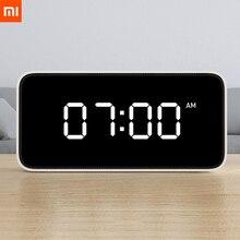 Estoque xiaomi xiaoai inteligente despertador de transmissão de voz relógio abs mesa dersktop relógios automatictime calibração mi casa app e20