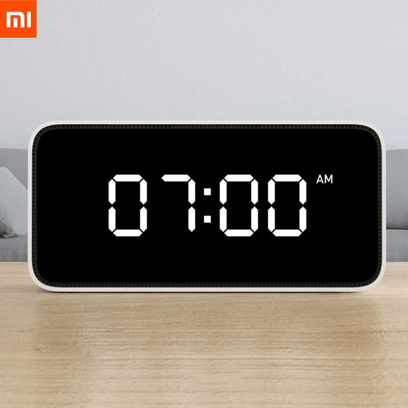 Stock Xiaomi Xiaoai Smart Alarm Clock Voice Broadcast Clock ABS Table Dersktop Clocks AutomaticTime Calibration Mi Home App E20-in Smart Remote Control from Consumer Electronics    1