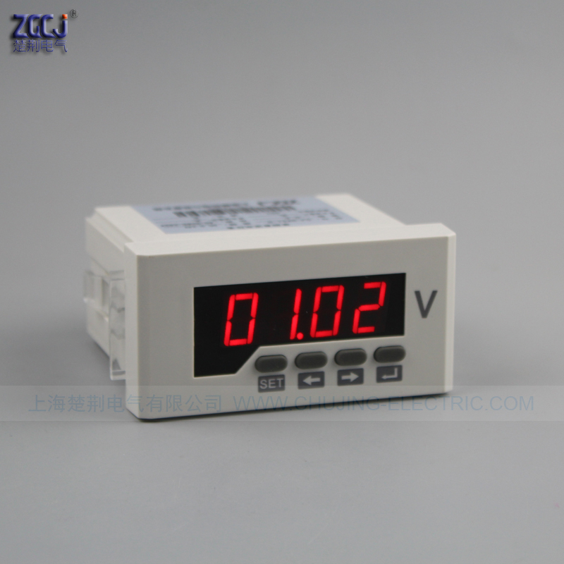 CJ-DV51-2O-T 0-1000V Photovoltaic DC voltage meter with RS485 and 2 alarm relay output High voltage alarm and Low voltage alarm CJ-DV51-2O-T 0-1000V Photovoltaic DC voltage meter with RS485 and 2 alarm relay output High voltage alarm and Low voltage alarm