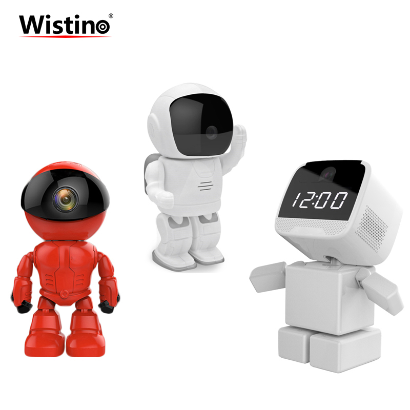 Wistino 960P 1.3MP Robot Camera WIFI Baby Monitor Wireless CCTV IP Camera IR Leds Remote Home Smart Video Monitor TF Card Indoor wistino 1080p wireless baby monitor ip camera wifi ir night vision smart home mini cameras 960p security audio video recoder p2p
