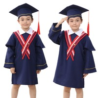 Unisex Full Set Primary School Graduation Gown Matching Cap Age 3 15 Years