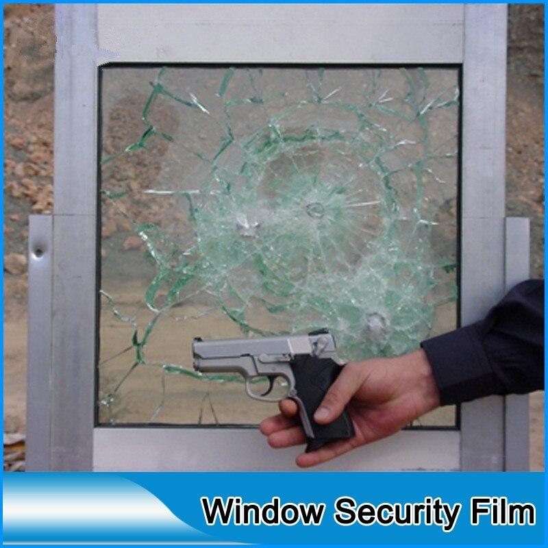 En gros Transparent 4mil Film de sécurité fenêtre verre prévention des rayures Anti-crash auto-adhésif 1.83*10 M Anti-déflagrant