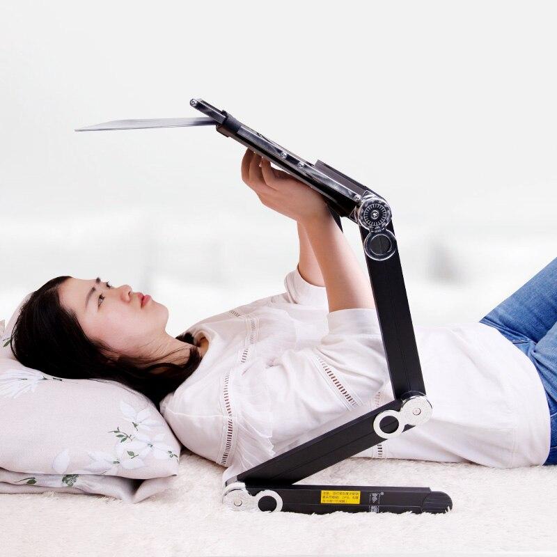 Soporte para ordenador portátil tumbado y viendo TV cama plegable Mesa perezosa soporte para ordenador|Escritorios para ordenador| |  -