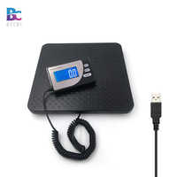 BECBI Weight Scale USB 200kg Electronic Postal Shipping Scale,Wifi Scale, Blue LCD Display Aluminum Casting Scale Pan