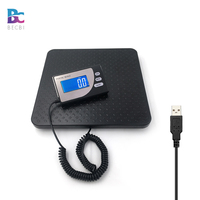 Weight Scale 200kg Electronic Postal Shipping Scale With USB Connector ,Wifi Scale, Blue LCD Display Aluminum Casting Scale Pan