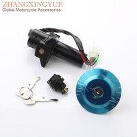 Motorcycle Electric Door Lock & Fuel Tank Cap Kit for YAMAHA YBR YBR125ED YBR125ESD 3D9 Y8250 00 00