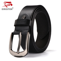DINISITON Designer Belts For Men High Quality Cow Genuine Leather Belt Male Brand Vintage Jeans Strap
