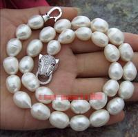 Free Shipping >>HUGE AAA 13MM NATURAL SOUTH SEA WHITE PEARL NECKLACE 18INCH