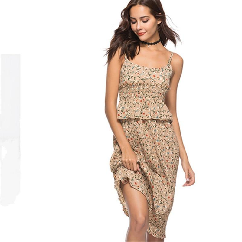 Women's Clothing Useful Eyes 2018 Print Summer Women Hot Sexy Bohemian Beach Vestidos Bodycon Fashion Dresses