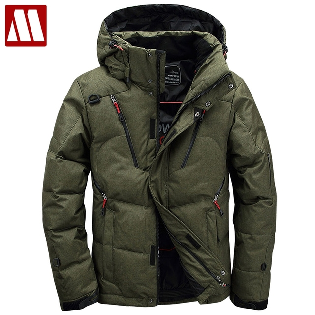 Men coat Snow parkas male Warm Brand Clothing winter Down Jacket Man's Outerwear High Quality 90% White Duck Thick Down Jackets