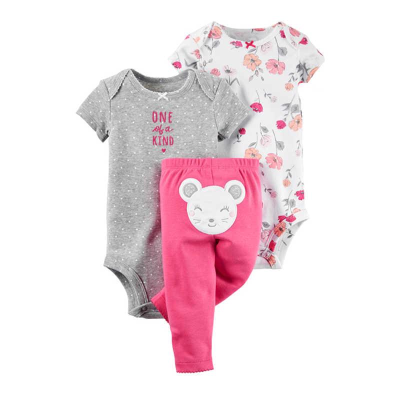 8f15cd97a37b5 ... baby boy outfit romper+letter bodysuit+pants stripe newborn girl clothes  2019 summer set ...