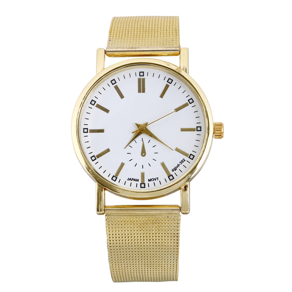 OTOKY  Fashion Watch Men Classic Gold Plated Stainless Steel Mesh Band Wrist Bracelet Quartz Men's Watches  relogio masculino iw 8758g 3 men s and women s quartz watch fabric classic canterbury stainless steel watch with multi color striped band