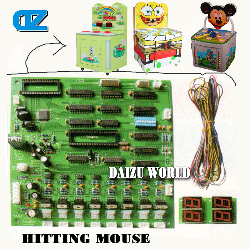 все цены на Factory price kids coin operated arcade games whac-a-mole hit mouse hammer game machine/The computer motherboard онлайн