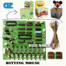 Цена по прейскуранту завода детей монетные аркадные игры whac-а-моль нажмите мышкой игра машина молотка/компьютер материнская плата